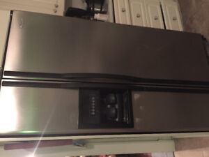 Fridge with water dispenser and ice maker