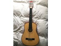Acoustic Bonplay string guitar for sale in condition - Barking £25.