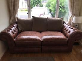 Chesterfield style leather sofa from Pratts