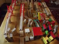 BRIO Wooden train set and accessories