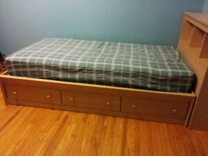 CAPTAINS BED WITH MATCHING DRESSER