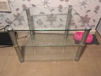 Silver telly stand