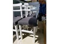 Vintage Retro School Chairs x8
