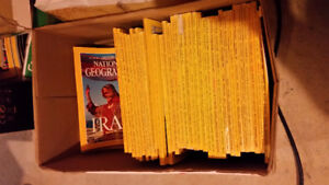 Over 200 National Geographic magazines