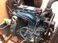 kubota d 1703 engine running on stand