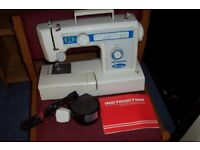 Electric sewing machine inc. instructions. An imported Empisol Sonata model. 14 assorted stiches£20