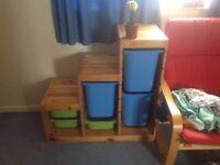 IKEA Trofast kids storage unit and tubs