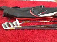 Set junior golf clubs and bag