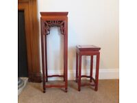 2 Small Decorative Side Tables. Ideal For Lamps, Vases, Flowers
