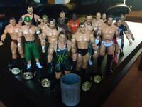 WWE Wrestling Figures w/ Championship Belts