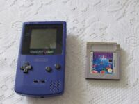 Gameboy Color With Tetris game