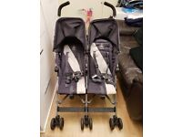 Maclaren Twin Triumph Charcoal Double Buggy (Good Condition)