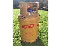 Half full gas canister (13kg) and regulator