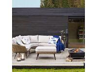 Carnaby Corner Sofa & Footstool Outdoor/Garden Lounge Set RRP £1699