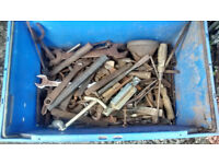 large number of assorted hand tools