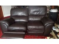 2 x recliner black leather sofas (5 seats) good condition. Relevant vehicle needed to pick up