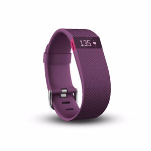 PLUM FITBIT HR CHARGE WITH CHARGER.