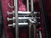 Trumpet and trumpet case