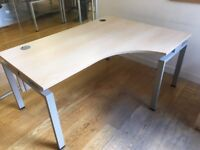 2 x left sided quality pine office desks with draws included just £55 a set