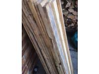 Hundred slats of timber