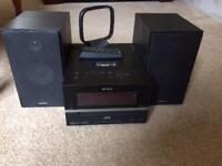 Sony CD, DAB Radio and iPhone docking system