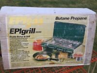 Camping gas stove - 2 burners + grill
