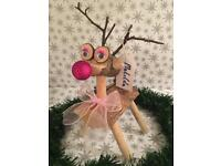 Handcrafted Wooden Reindeers only £15.00 each