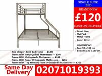 WOW 5 Day OFFER 50% OFF Brand New Double Trieo Bunk . Bed with mattress Lawrence