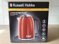 Russell Hobbs Stainless Steel Red Kettle - Brand new/boxed