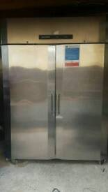 Precision commercial double doors chiller stainless steel fully working with guaranty good condition
