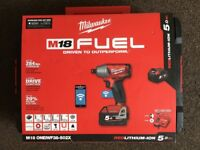 Milwaukee M18 ONEIWF38-502X ONE-KEY™ FUEL™ ⅜˝ IMPACT WRENCH WITH FRICTION RING
