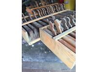 Antique wood working moulding planes, 38 in total. Very collectable