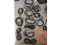 XLR microphone cables about 22 various lengths