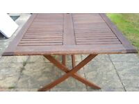 Wooden Garden Table with Parsole and Base