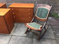 Stag mid century teak 3 drawer chest of drawers