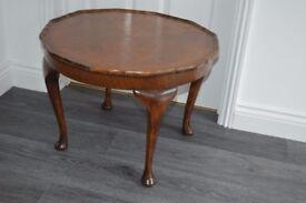 Dark wood antique coffee table