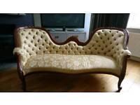 Victorian reproduction love seat/sofa