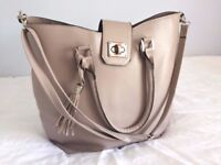Large beige bag