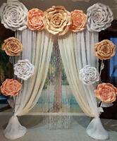 The Giant Flowers Wedding Arch for rent
