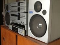 Sharp stereo system, receiver, cassette deck, stereo turntable, 2 way speaker system