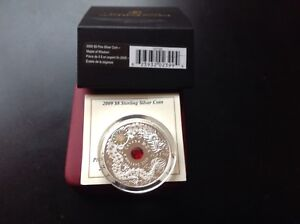 2009 $8 Sterling Silver Coin Dragon