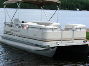 18' Pontoon boat, 40 hp/4 stroke, trailer too! $15,500