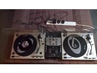 Decks, mixer and CD / MD player