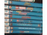 Nintendo wii u with mario kart 8 and other games