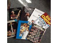 7 various guitar books