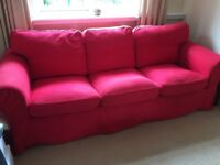 Free 3 seater sofa (red)