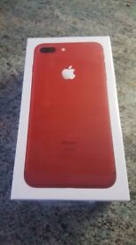 iPhone 7 Plus 128gb Red on EE (Brand new and Sealed)