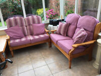 Luxury Conservatory sofas and table.