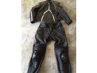 Dainese Motorbike leathers jacket size 58, trousers 56