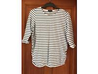 Maternity top-striped